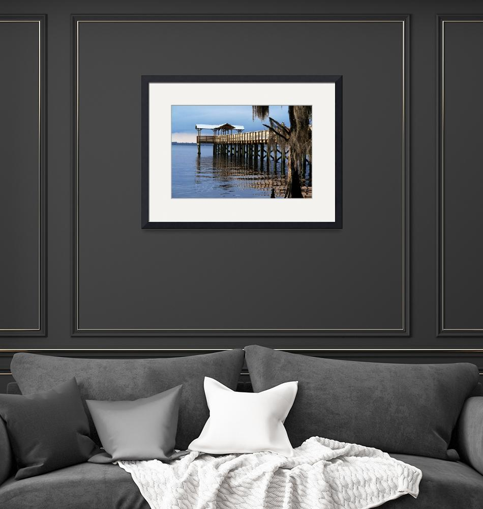 """""""Sunset Glistens On The Dock""""  (2010) by barbee"""