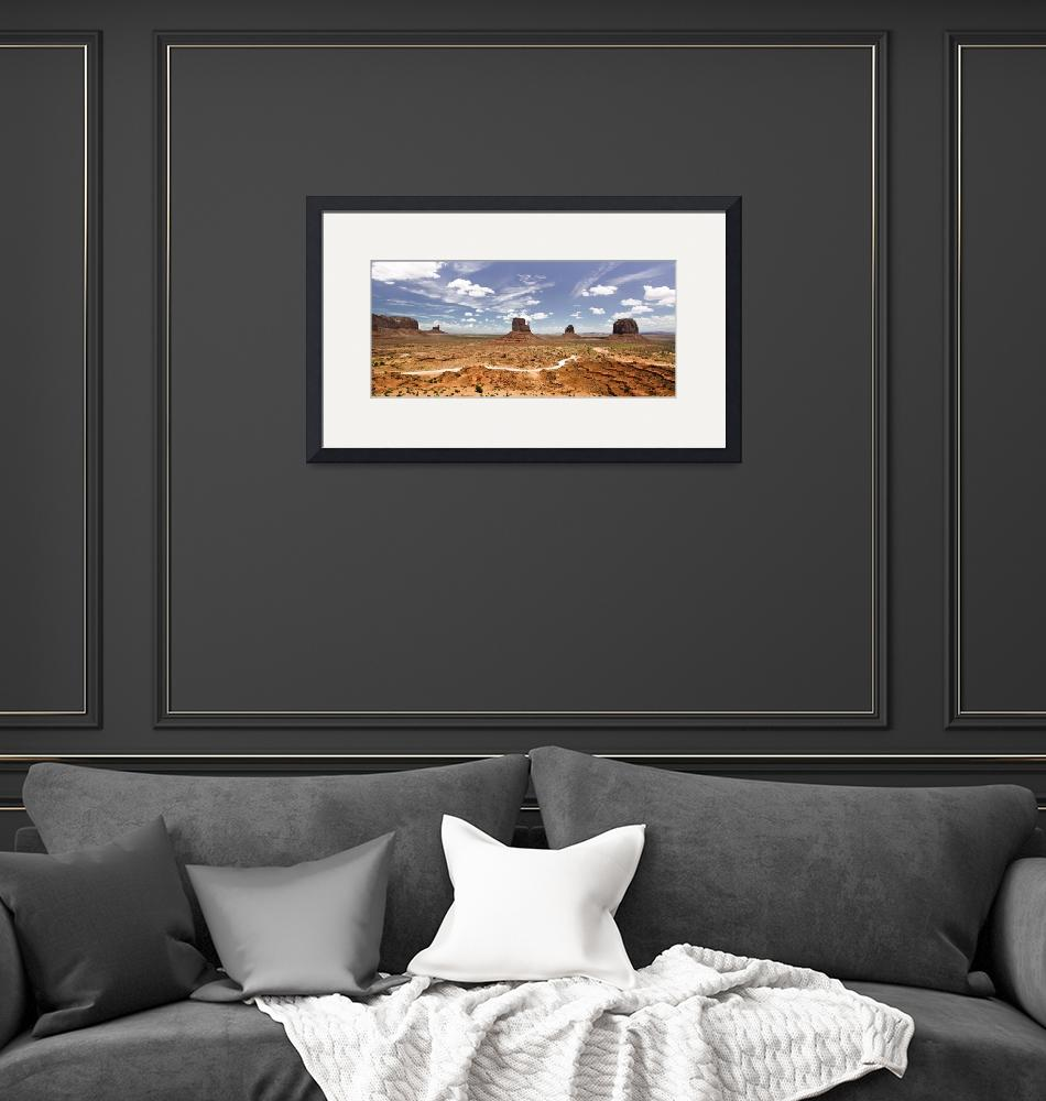 """Monument Valley Wide Angle""  (2010) by photographybyryankelly"