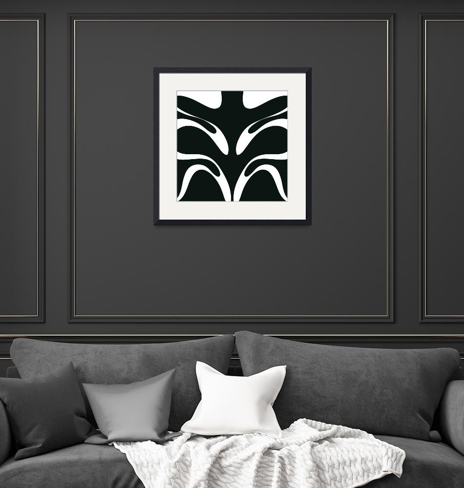 """""""Curvy black white""""  by Adorehandcrafted"""