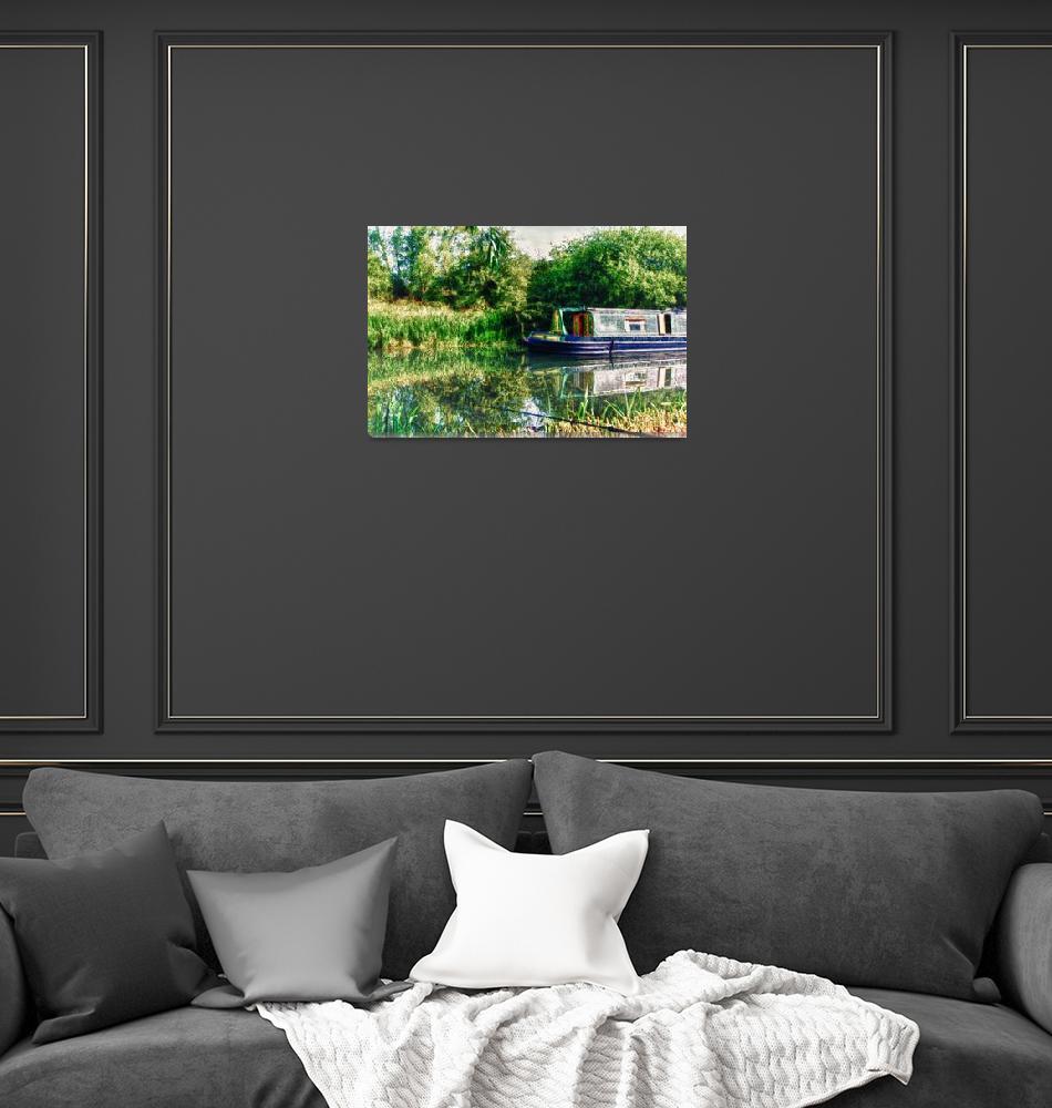 """Narrow Boat on the River Nene""  (2011) by InspiraImage"