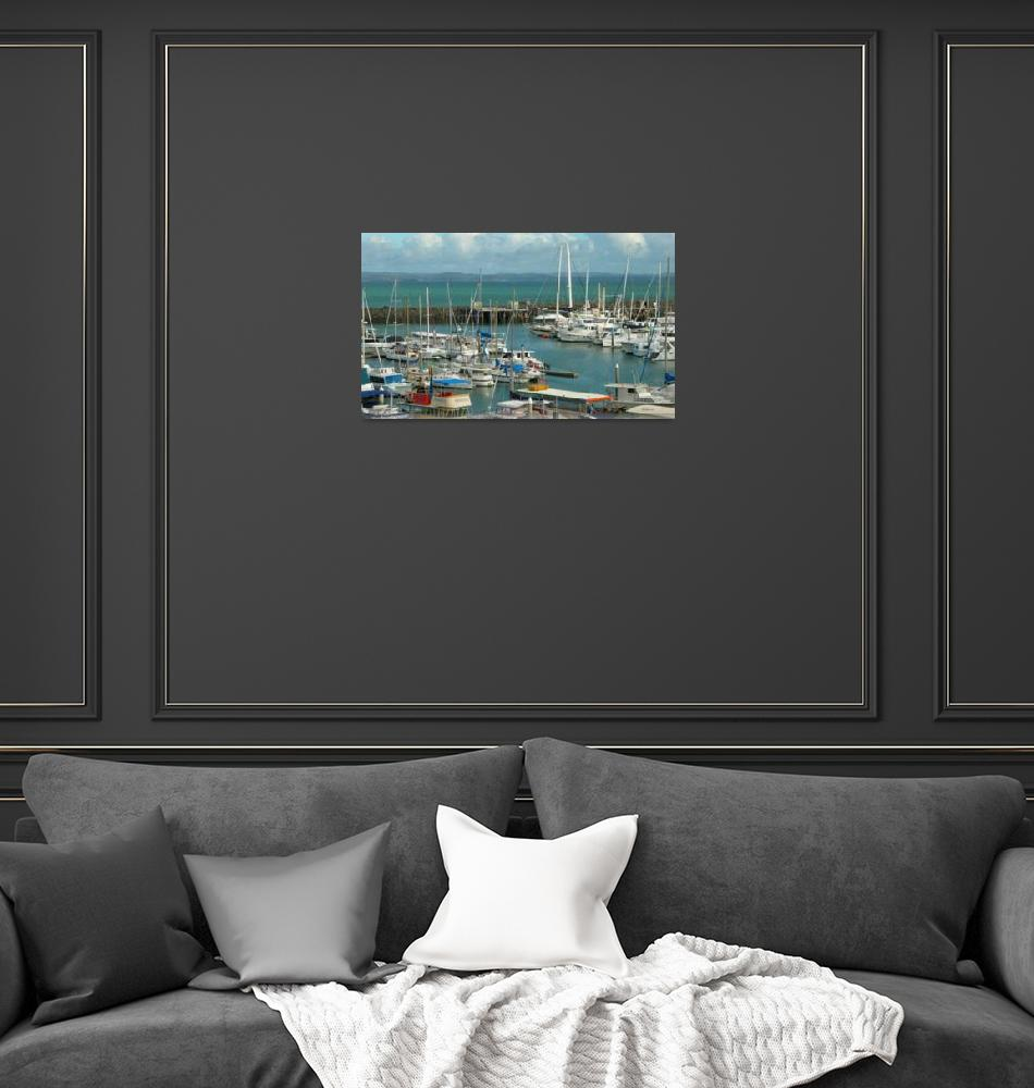 """marina view Hervey Bay Queensland Australia"" (2008) by shanmaree"