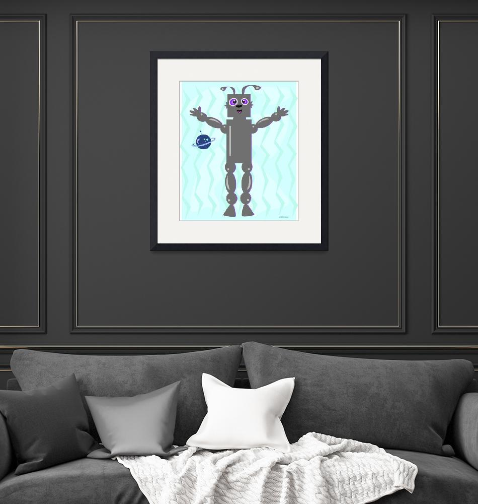 """""""Robot with Planet""""  (2010) by theblueplanet"""