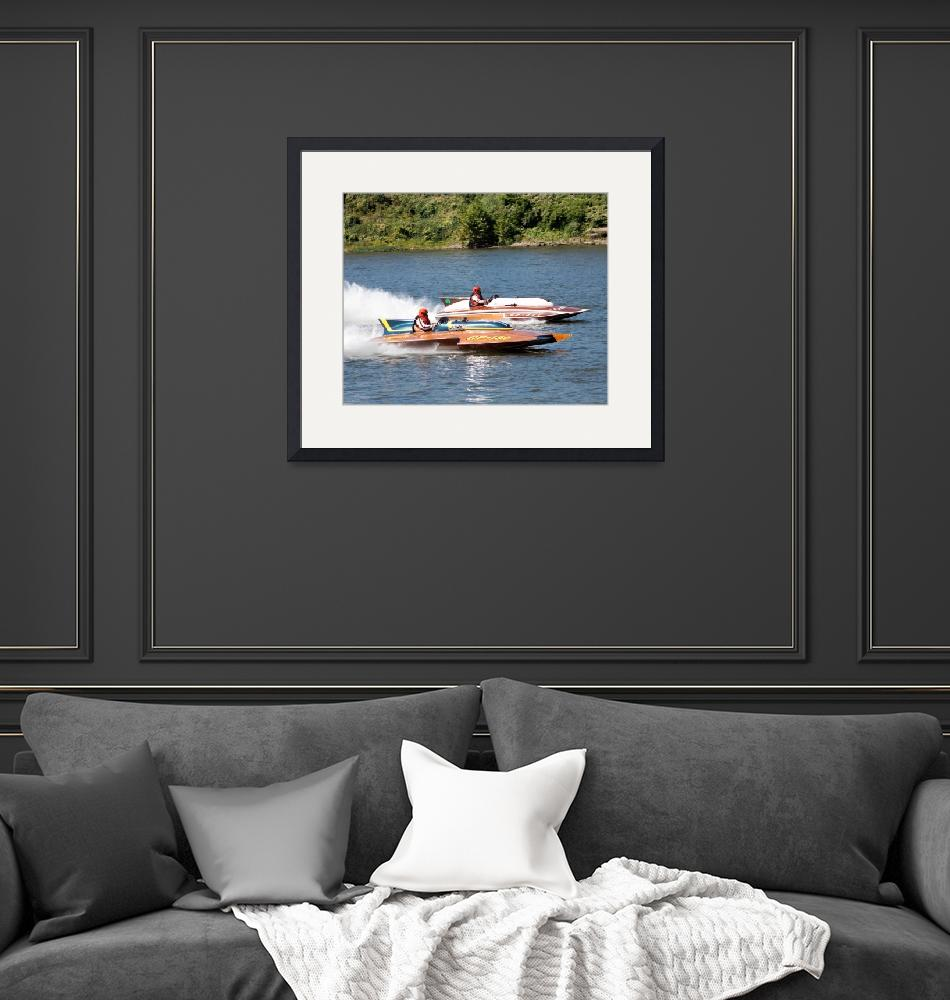 """""""2 Boats Racing""""  (2010) by bill26003"""
