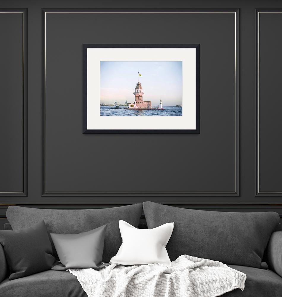 """""""Istanbul Maiden Tower Turkey - Infrared - Purple""""  by motionage"""