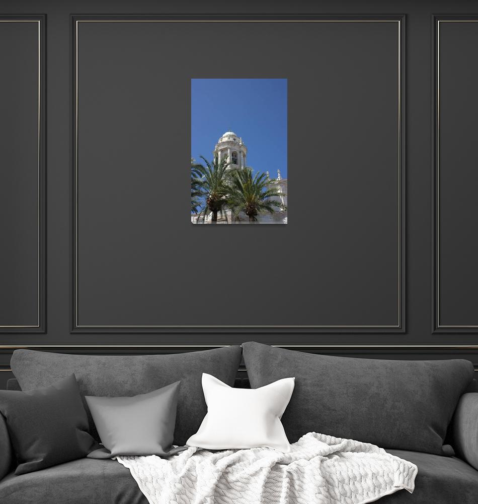 """""""Cadiz Cathedral Tower""""  (2009) by aliceschaefer"""