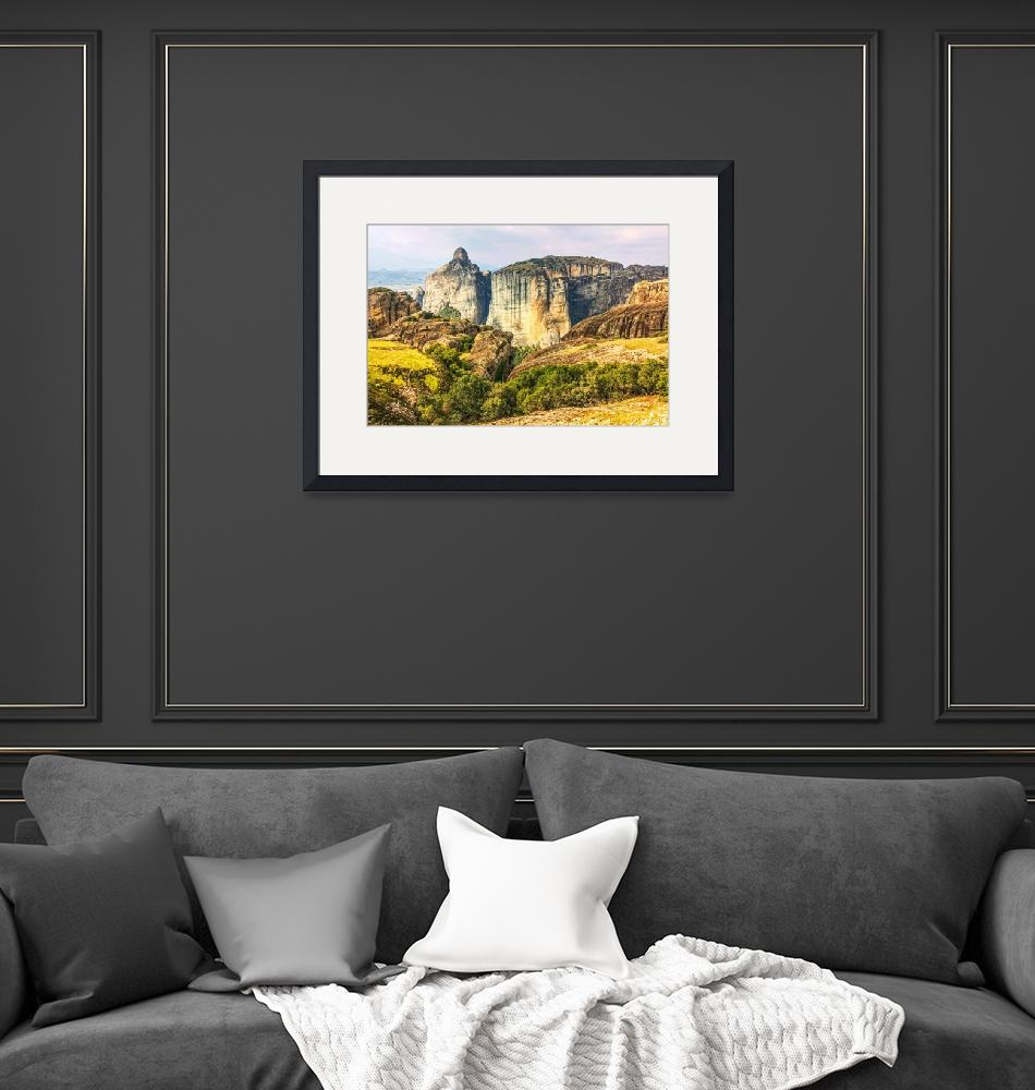 """""""Panoramic view on Meteora in Trikala, Greece.""""  (2014) by DragomirPhotography"""