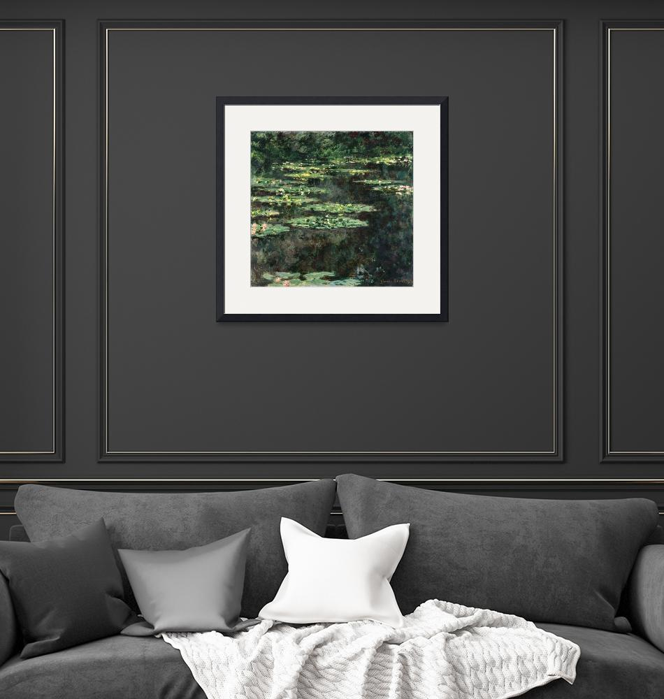 """Claude Monet Painting Framed Print""  by buddakats1"