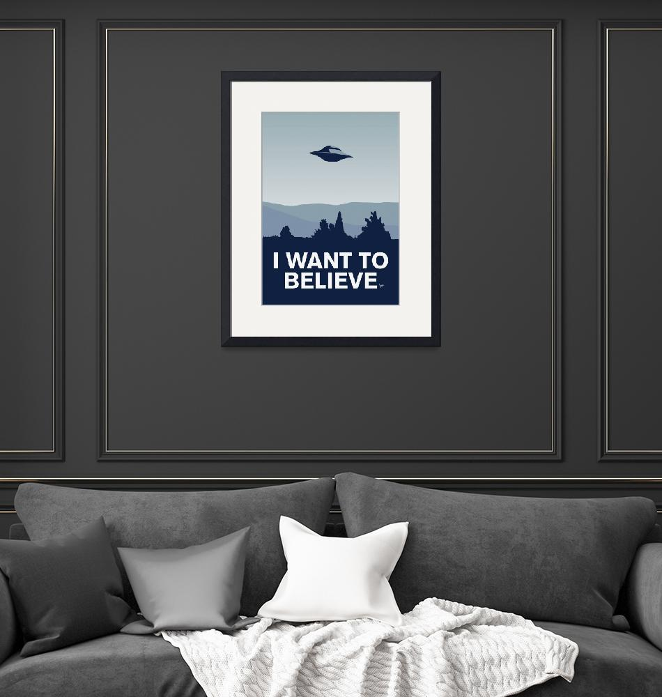 """""""My I want to believe minimal poster-xfiles""""  by Chungkong"""