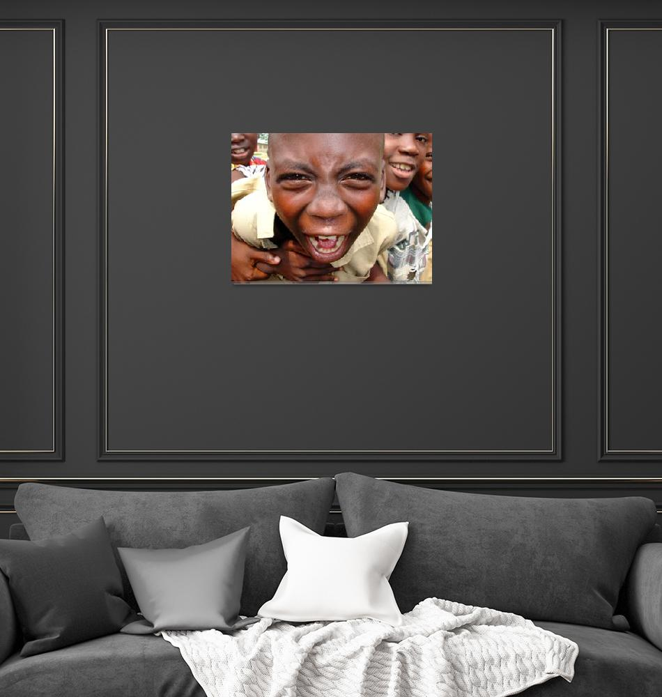 """""""Portrait of a schoolboy shouting at the camera""""  by anthonyasael"""