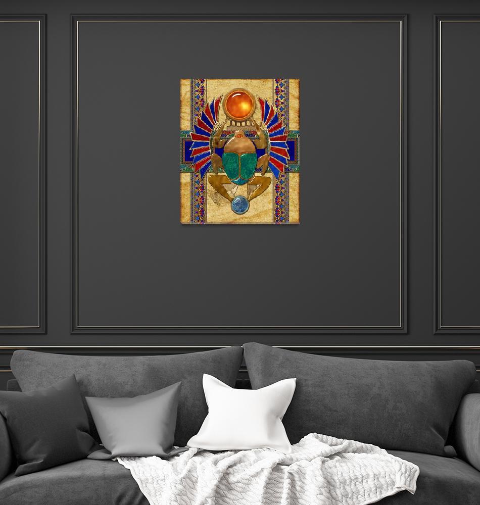 """Sarcophagus Egyptian 3D Folk Art""  (2013) by ReneeLozenGraphics"