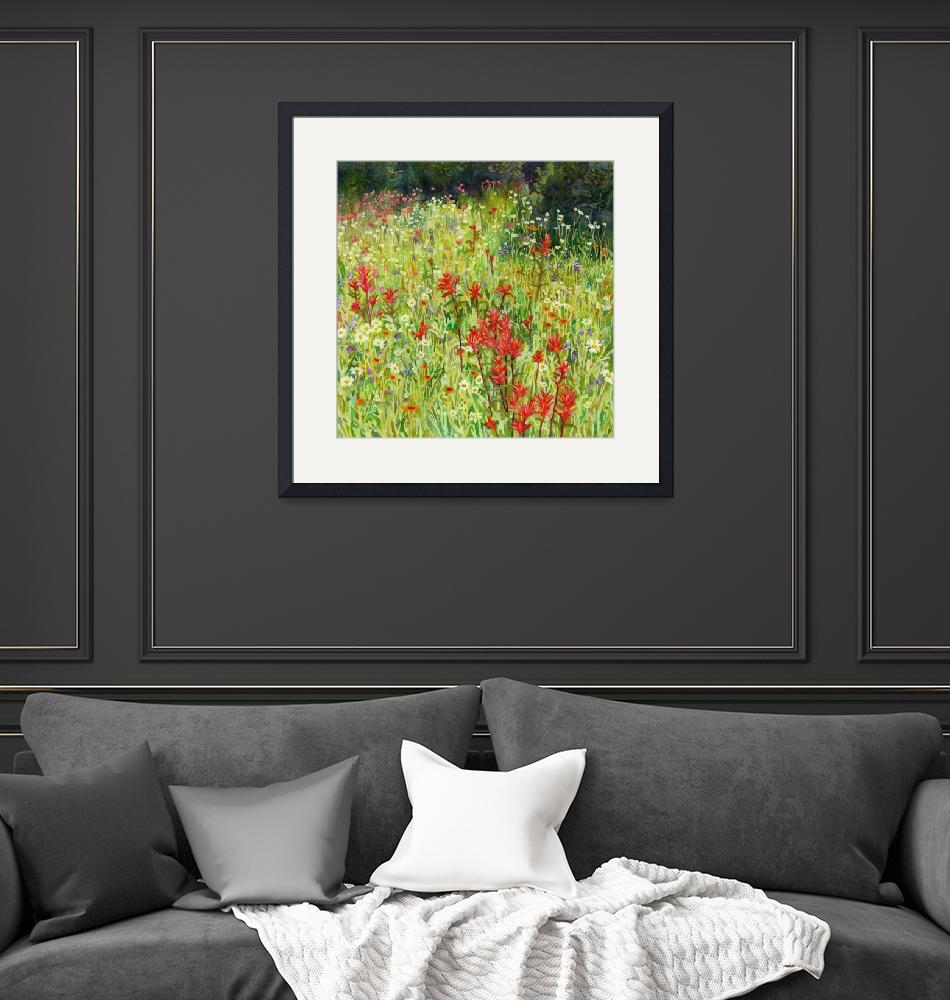 """""""Blooming Field-Square Format"""" by HaileyWatermedia"""