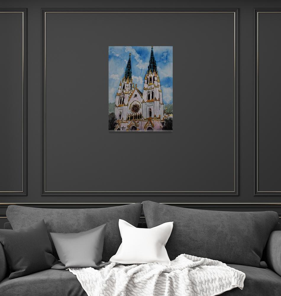 """St John the Baptist Church christian art print""  (2009) by derekmccrea"