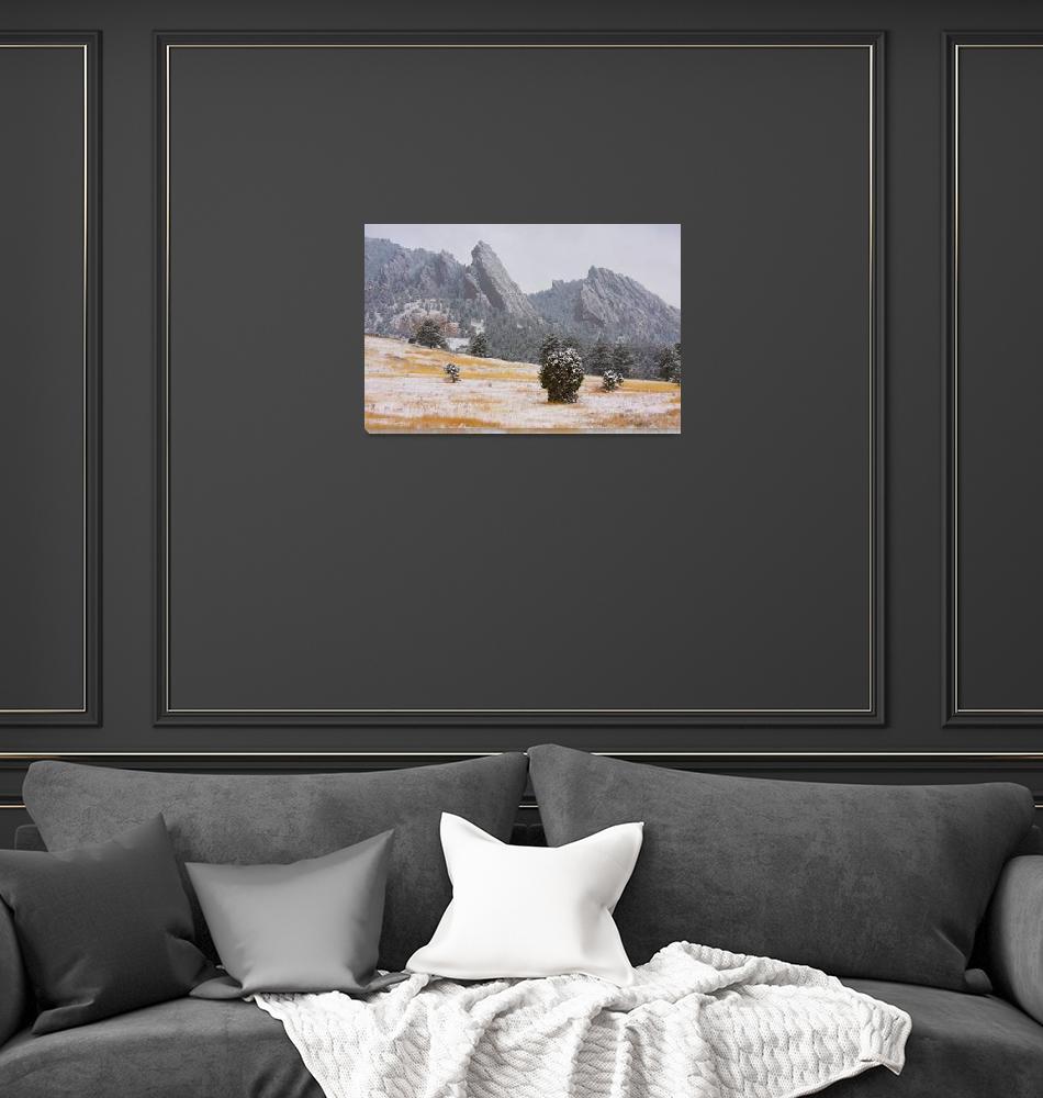 """Flatiron Meadow Boulder Colorado""  (2009) by lightningman"