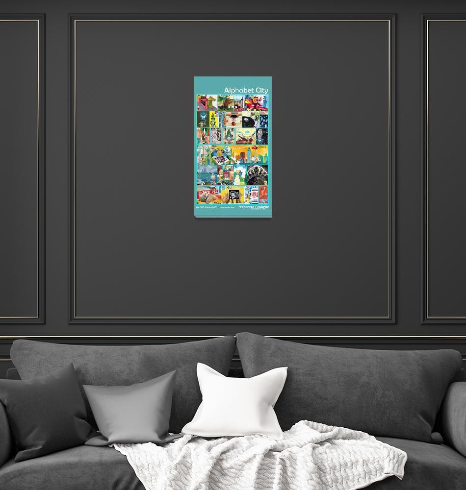 """Alphabet City - Complete - Teal""  by artchiz"