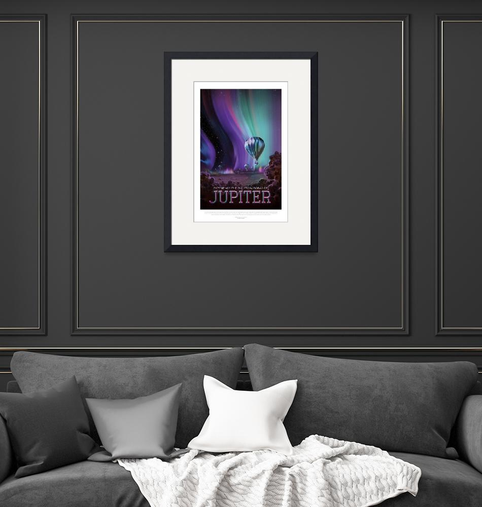 """""""NASA Jupiter Space Travel Poster""""  by FineArtClassics"""