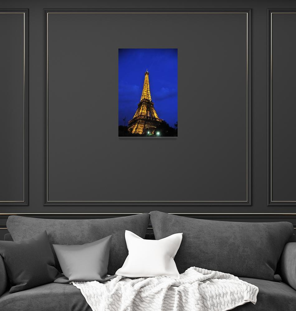 """""""The Eiffel Tower At Twilight""""  (2009) by micpe"""