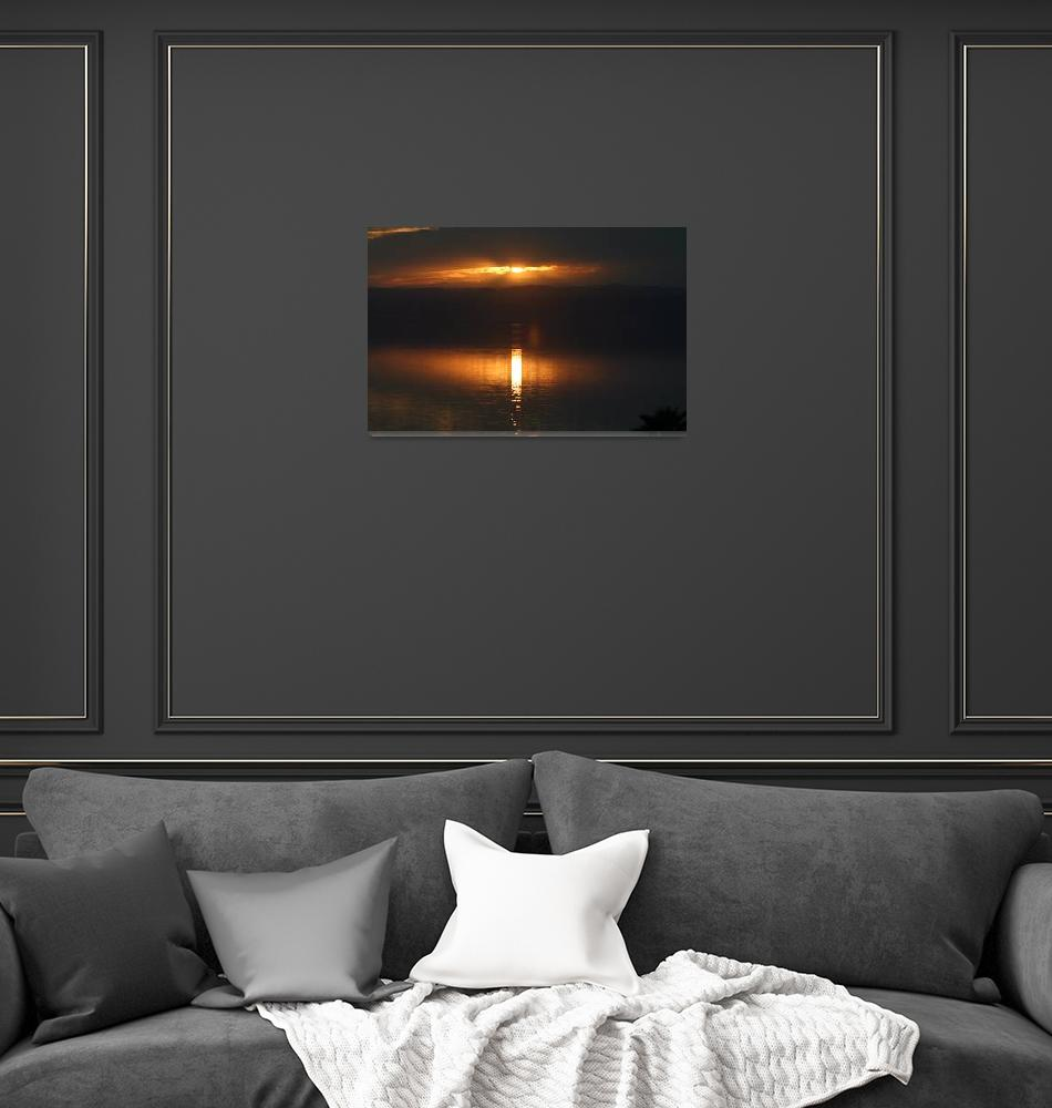 """Dead Sea Sunset""  (2006) by DanTravisPhotography"