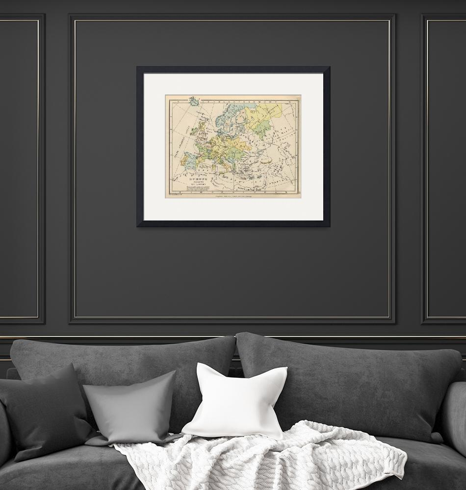 """Vintage Map of Europe (1905)""  by Alleycatshirts"