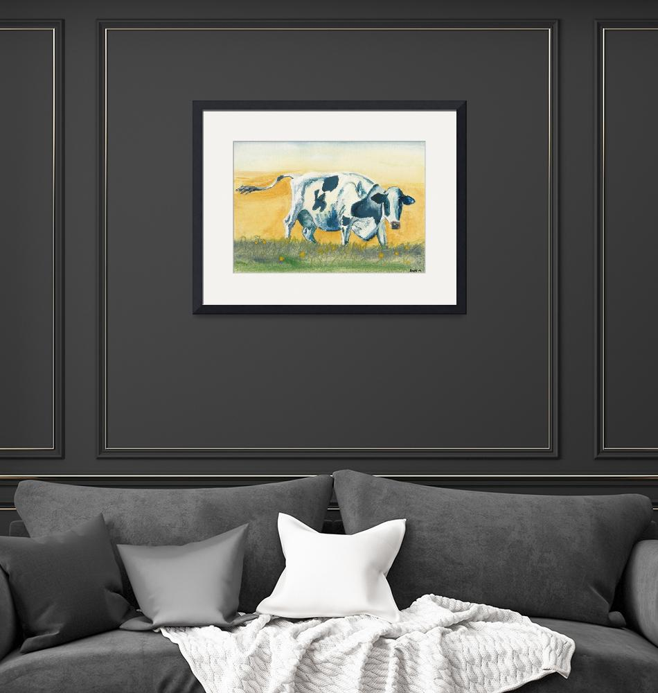 """""""Cow with Buttercups""""  (2004) by elenafisch"""