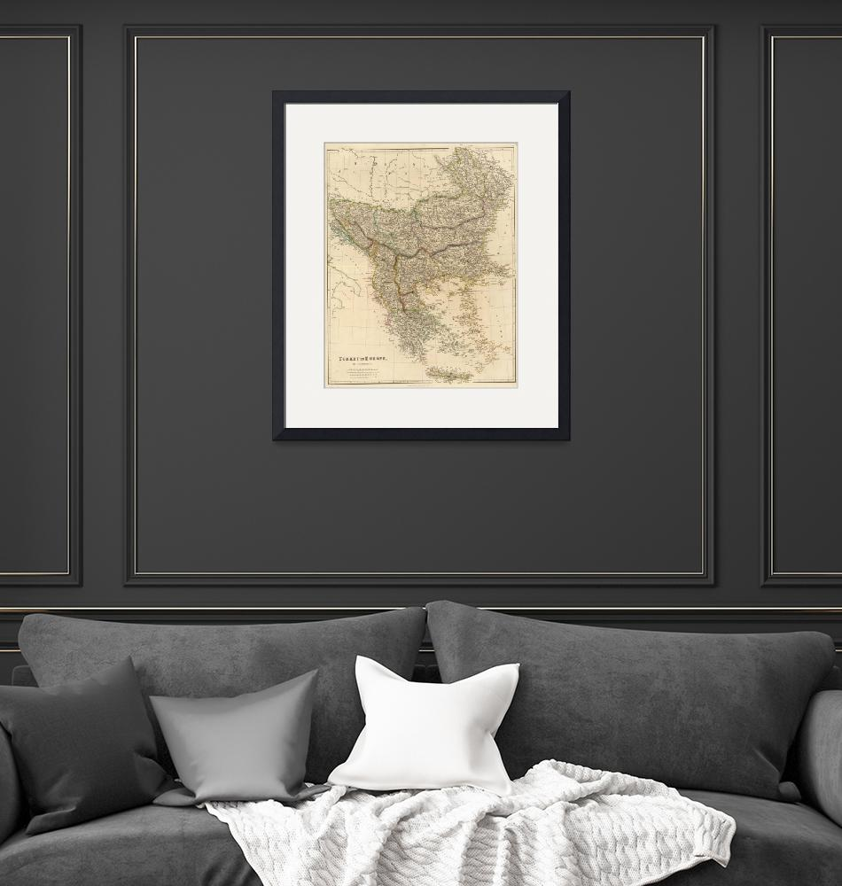 """Vintage Map of The Balkans (1832)""  by Alleycatshirts"