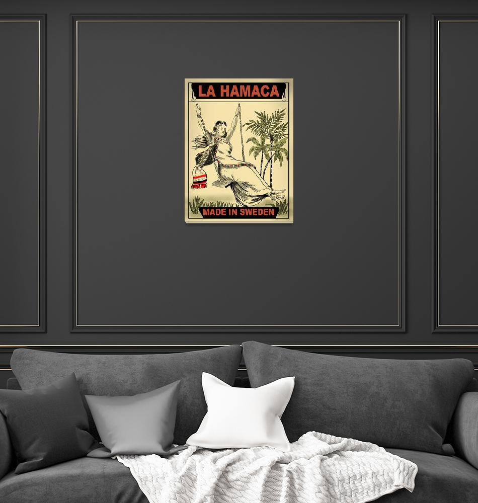 """La Hamaca Vintage Matchbox Design""  by mark-rogan"