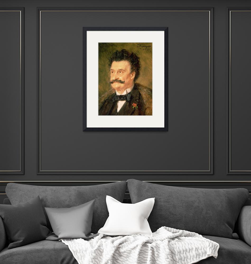 """Johann Strauss the Younger, 1895""  by fineartmasters"