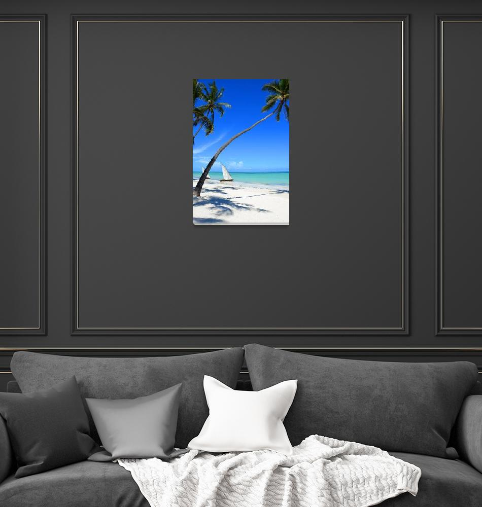 """""""The view of the beach and the sea""""  (2015) by danieltoryfter"""