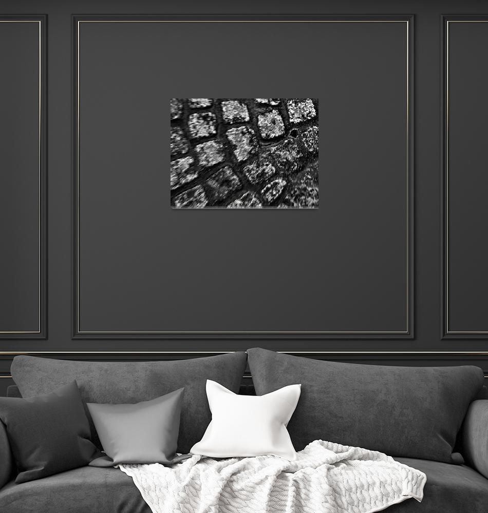 """Amsterdam Cobblestone      Black and White Edition""  (2009) by BarbaraLin"