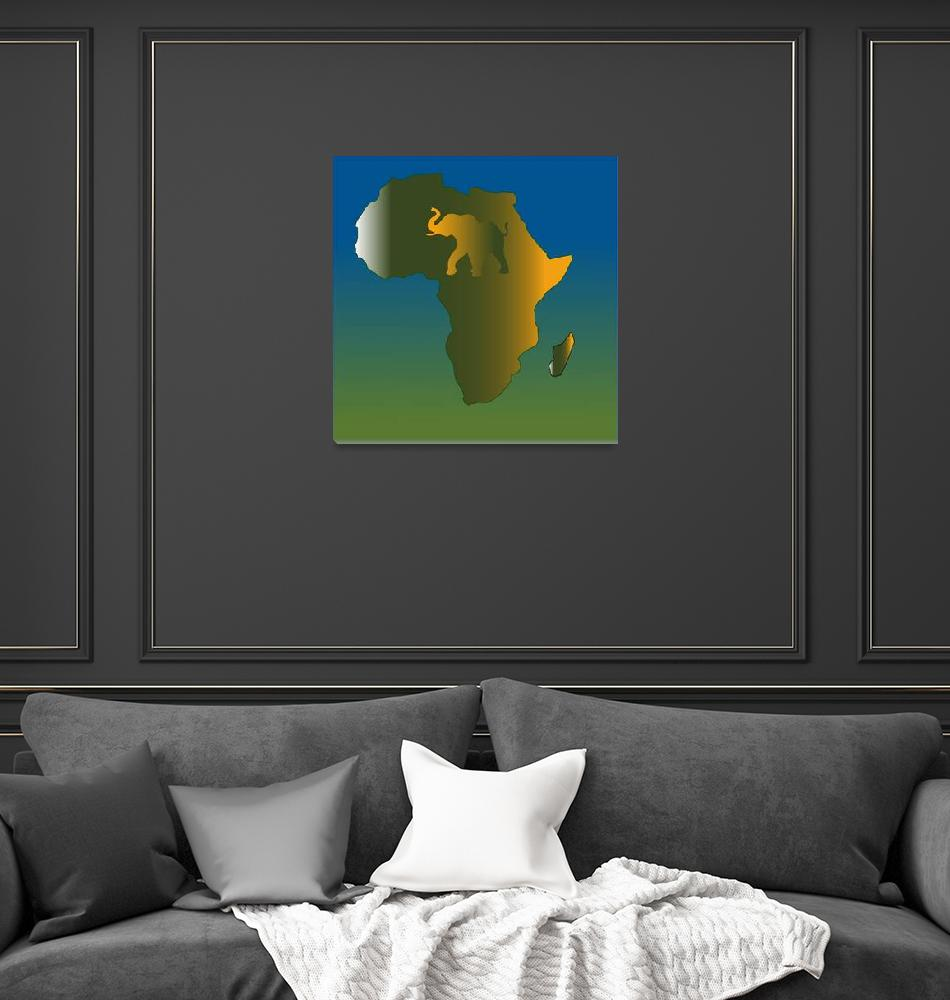"""""""Abstract Africa Wild""""  (2007) by Chatterbox"""