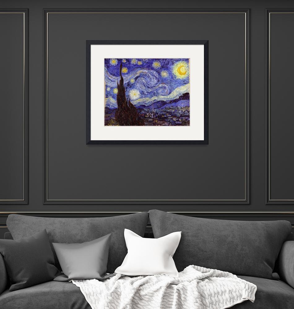 """Vincent Van Gogh - Starry Night - Sternennacht""  by masterpiecesofart"
