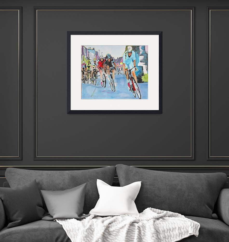 """Nibali_Attack_Wins_Stage_2_TdF""  (2015) by DianaNadalFineArt"