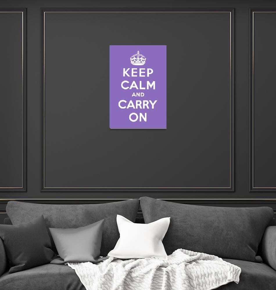 """Purple Keep Calm And Carry On 2""  by oldies"