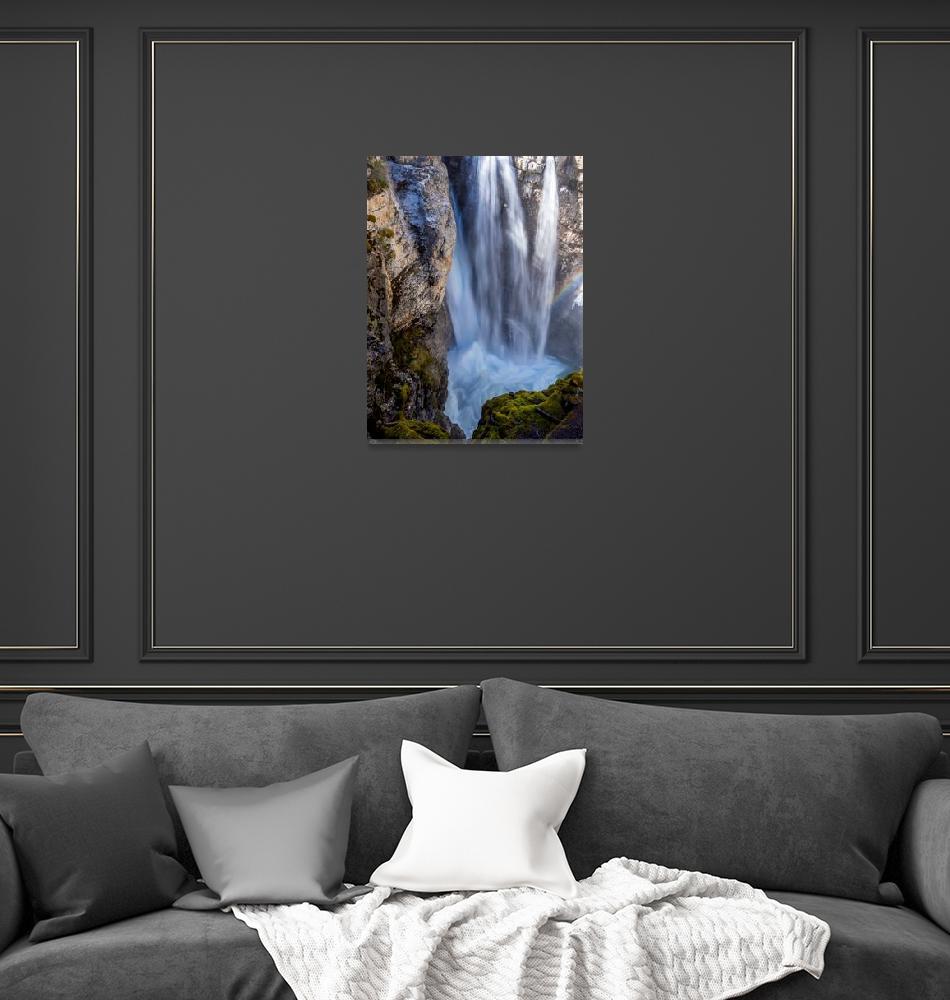 """Johnston Canyon Waterfalls""  by UponInfinity"