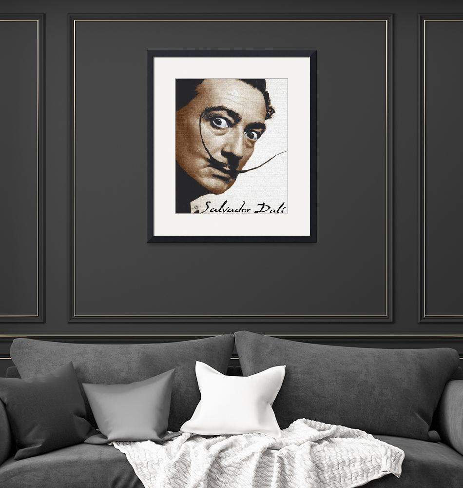 """""""Salvador Dali Realistic Painting With Signature In""""  (2017) by RubinoFineArt"""