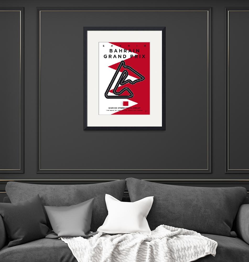 """My F1 BAHRAIN Race Track Minimal Poster""  by Chungkong"