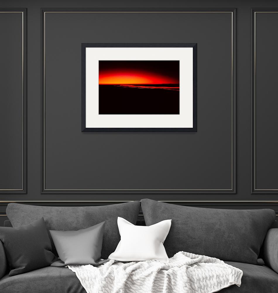 """""""Night Lights Sunset Four Red Lights 8702 A 008 D H""""  (2014) by WestwoodPrints"""