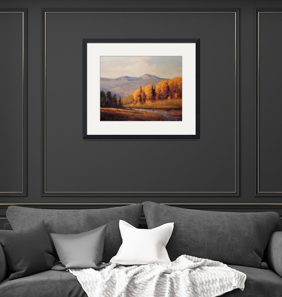 """""""Gold in the Hills""""  (2011) by WinegarFineArt"""