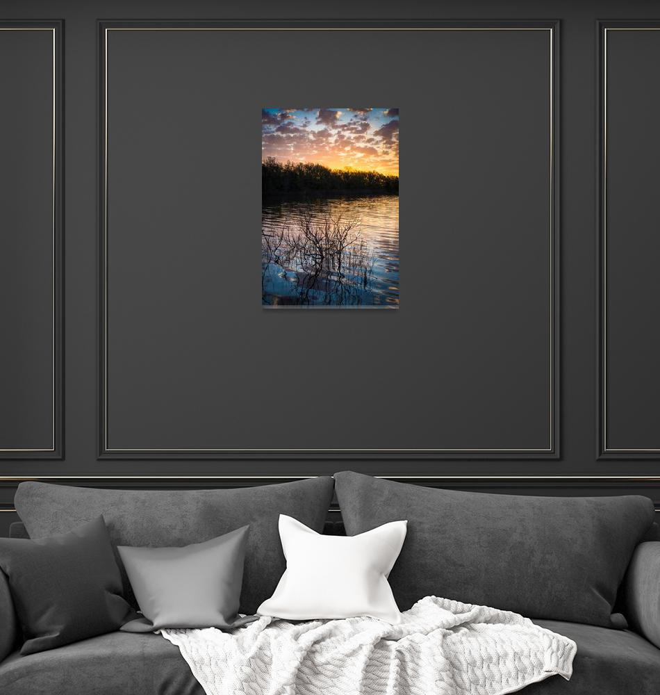 """Quanah Parker Lake Sunrise""  (2013) by Inge-Johnsson"