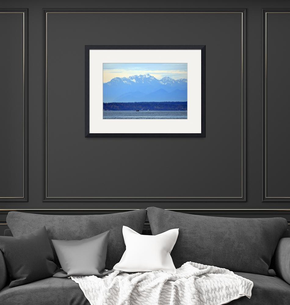 """""""The Olympic Mountain Range""""  (2013) by Kirtdtisdale"""