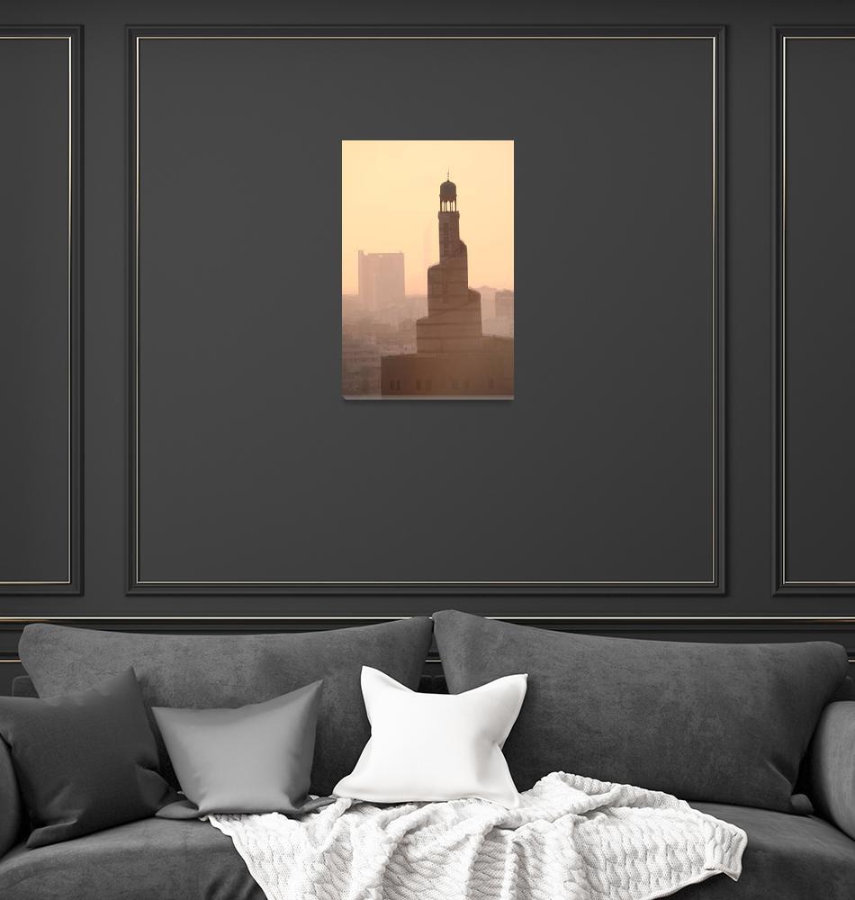 """Doha Mosque""  (2007) by simongeddes"