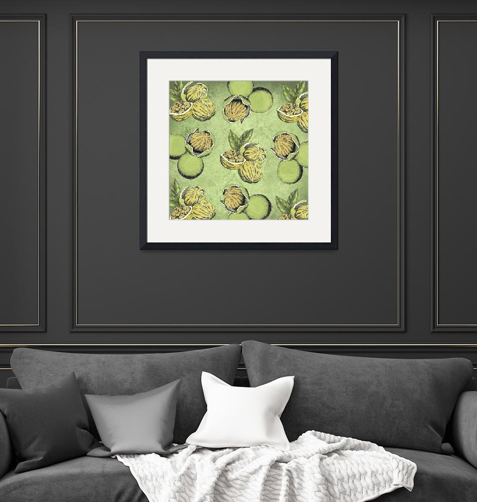 """Walnuts Faded Lime Color""  (2019) by ImageMonkey"