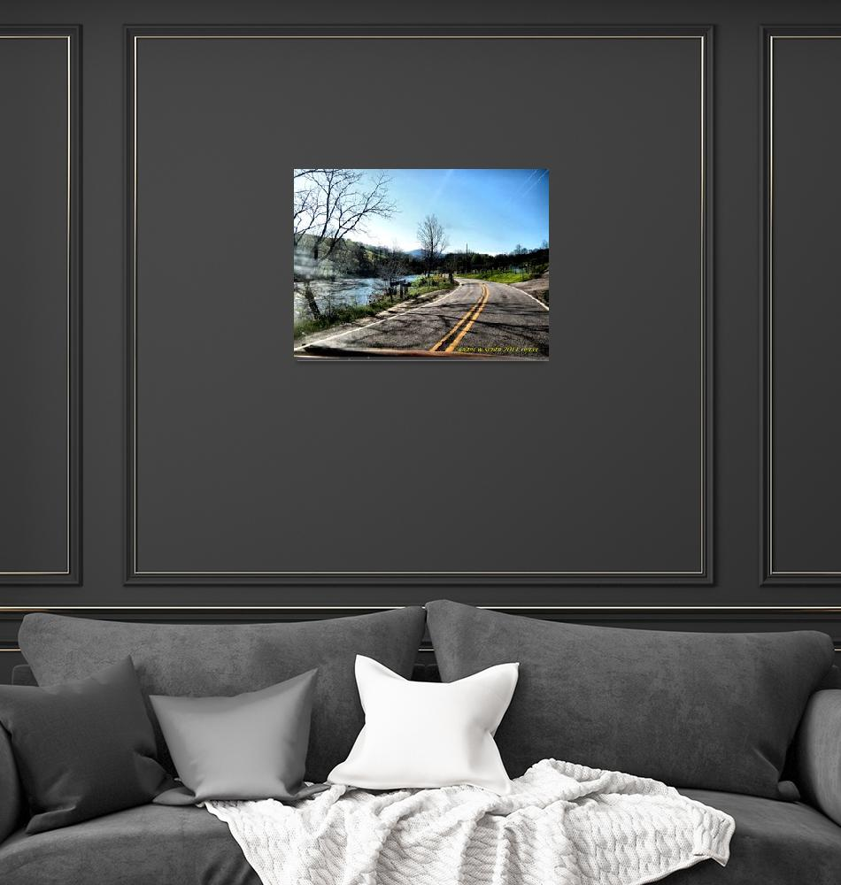 """""""Riverside Road""""  (2011) by newdigitalscapes"""