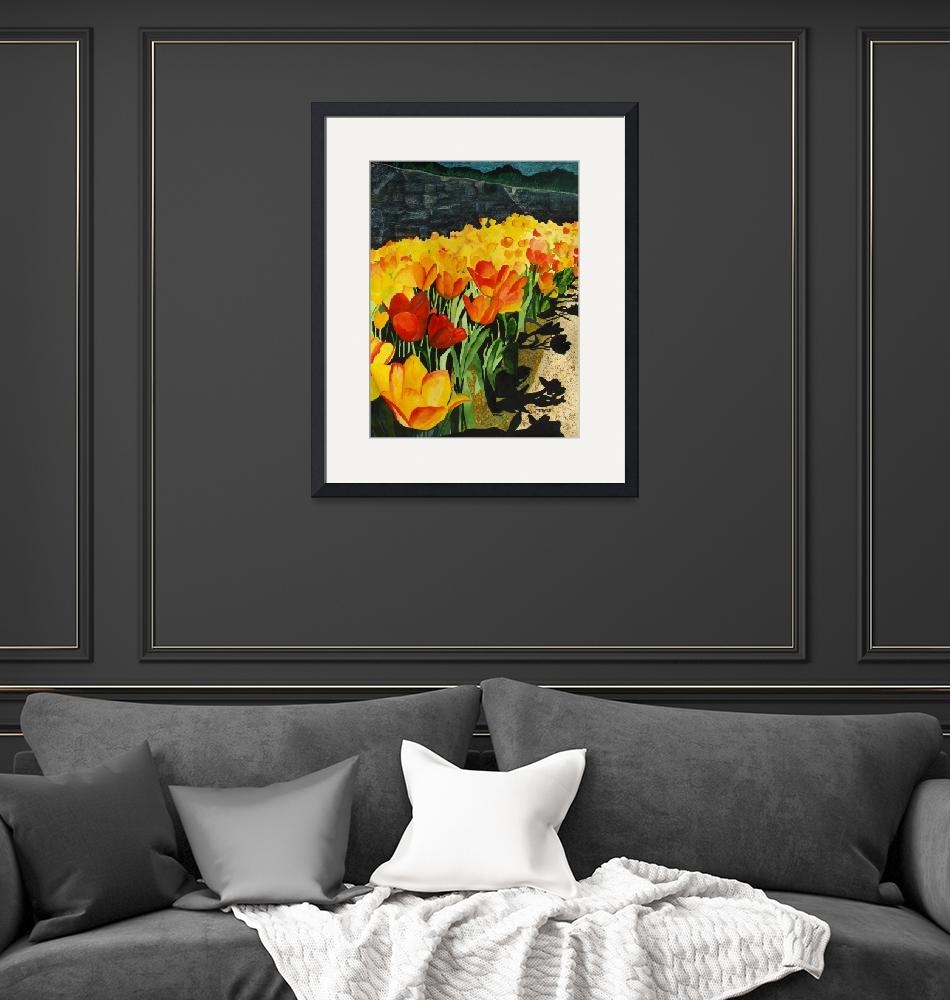 """""""Floral Art Print by Sue Coomer""""  by artprint"""