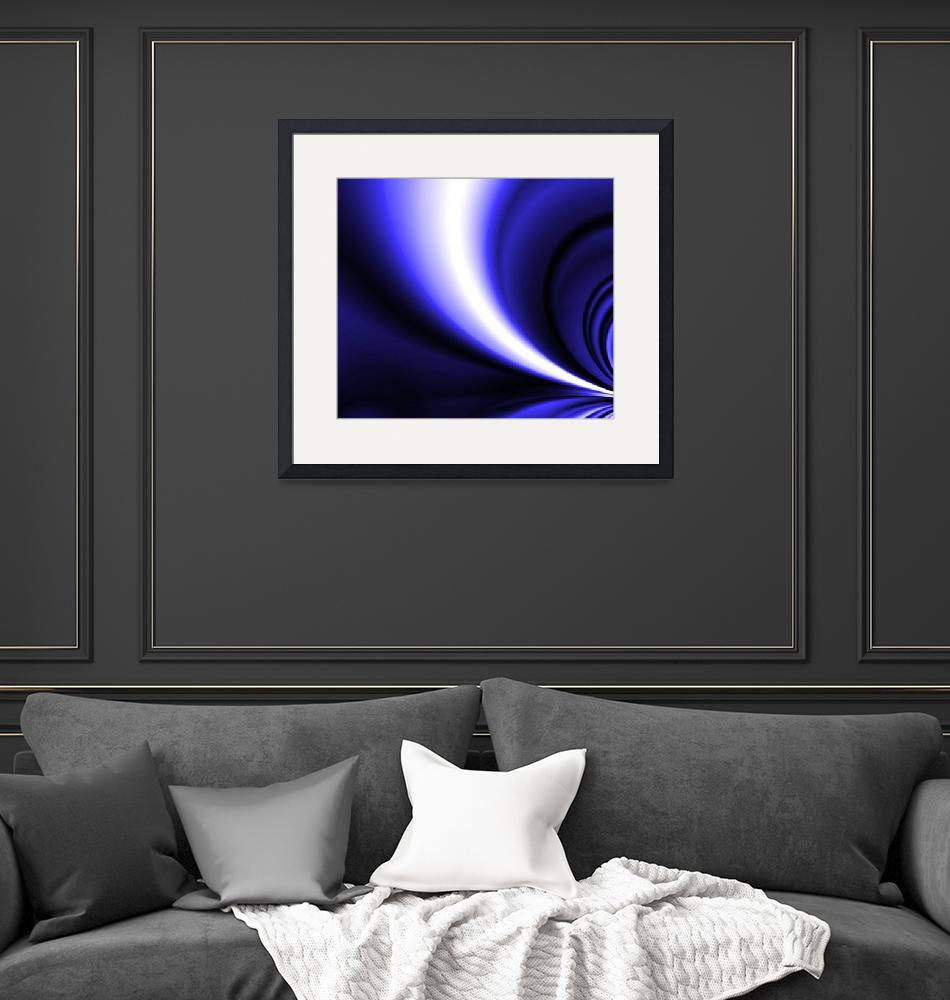 """""""Blue and White Motion""""  (2008) by LisaEwingArt"""