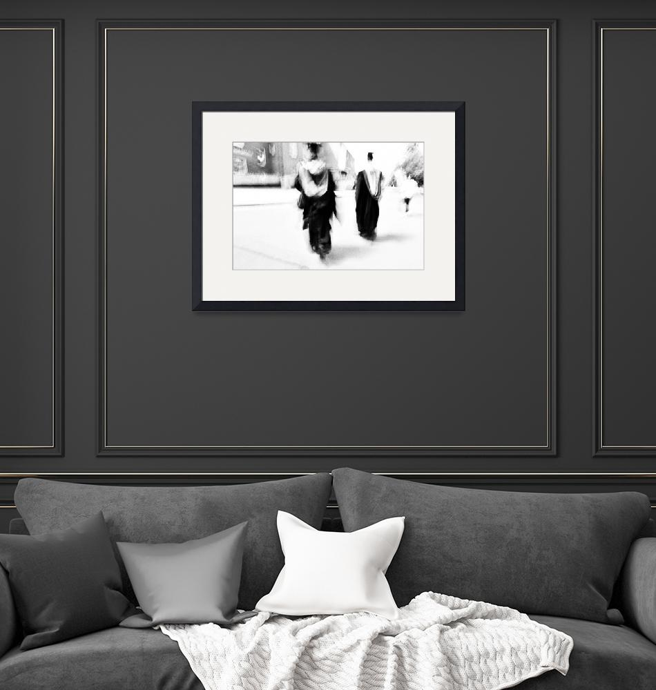 """""""Graduation Abstract in Black and White""""  (2014) by NatalieKinnear"""