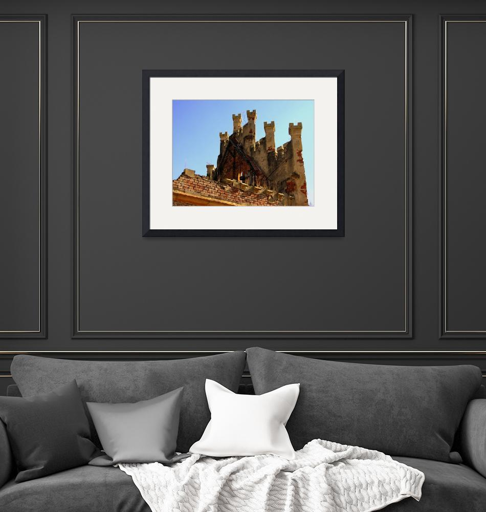 """Top of the Main Hall of Castle Hauenstejn""  by Artsart"