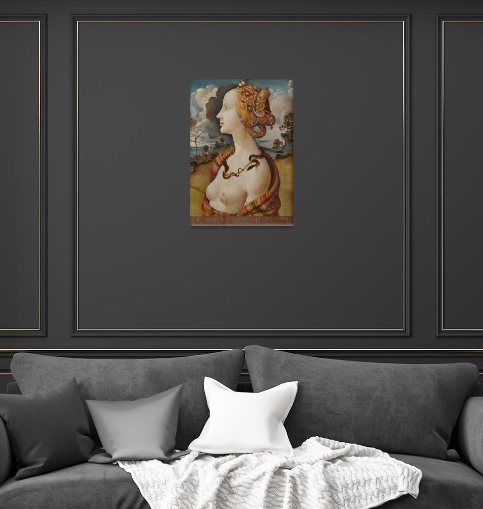 """Piero di Cosimo~Portrait de femme dit de Simonetta""  by Old_master"