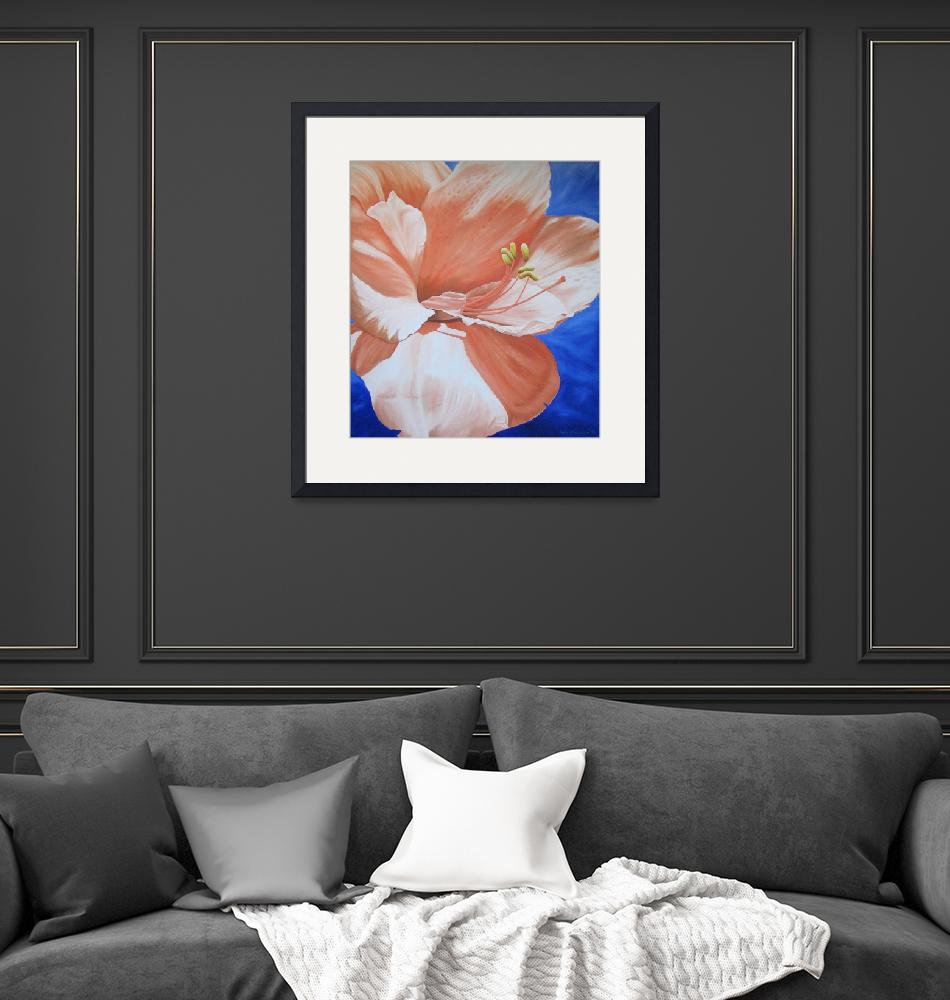 """""""Amaryllis in the Sky""""  (1996) by whatipaint4u"""
