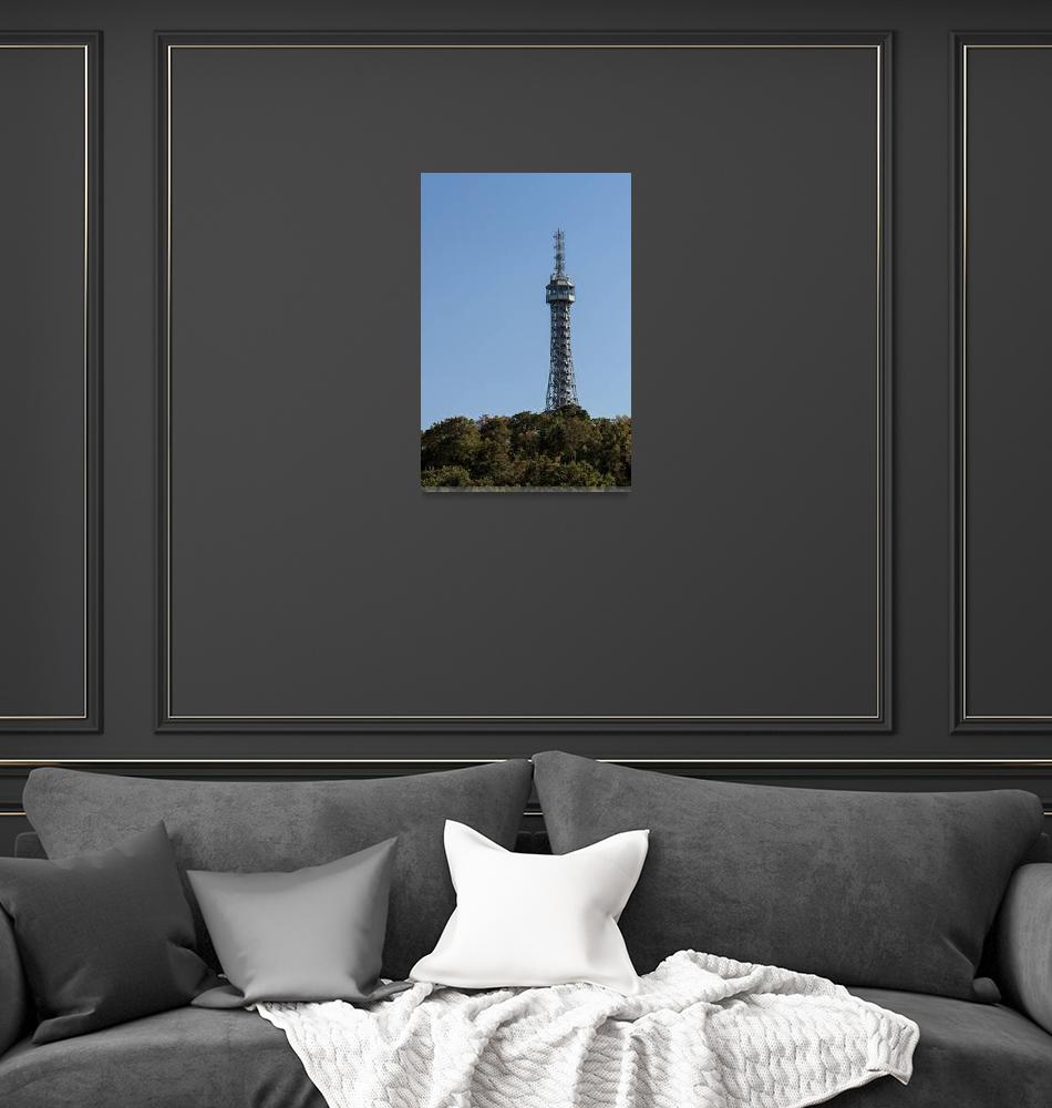 """Petrin lookout tower, Prague.""  by FernandoBarozza"