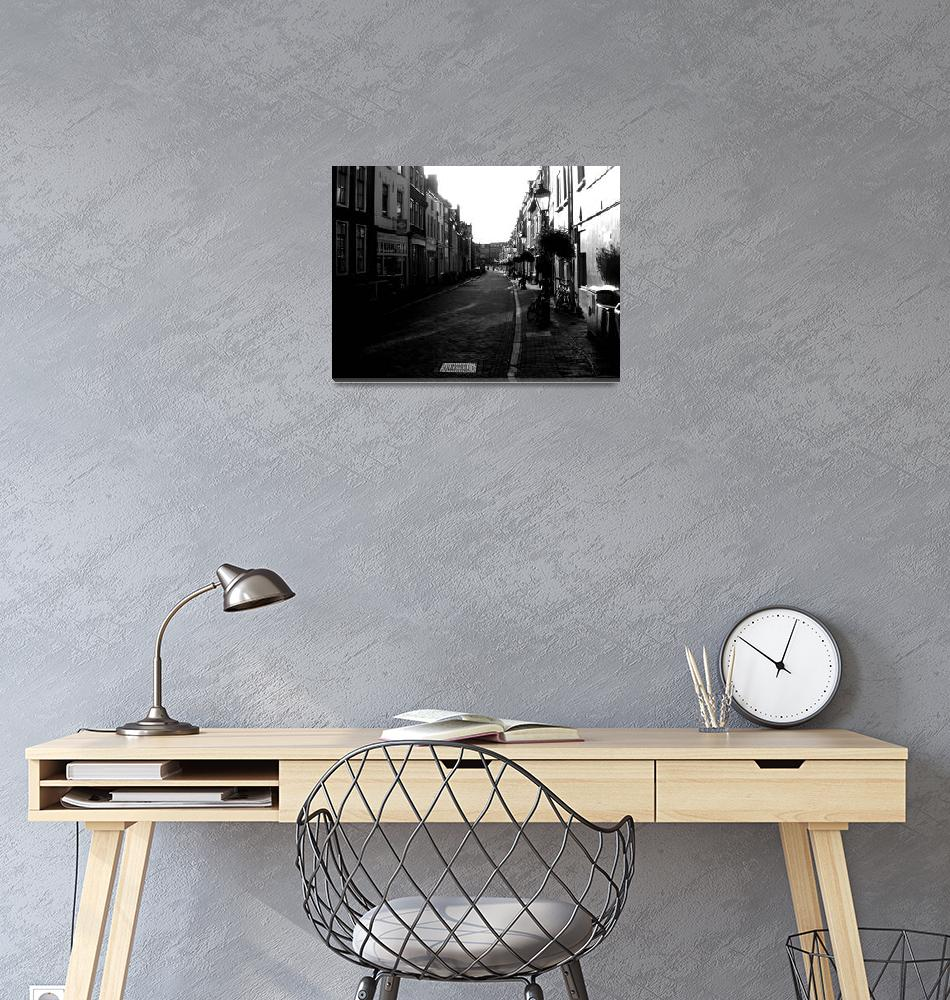 """City Street Before Sunset""  (2010) by cybergypsie"